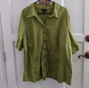 Lane Bryant Green Button Down
